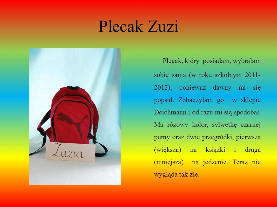 Plecak Zuzi