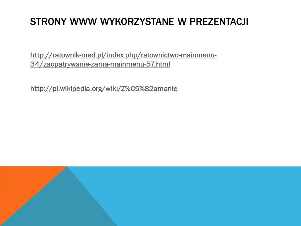 Strony www wykorzystane w prezentacji