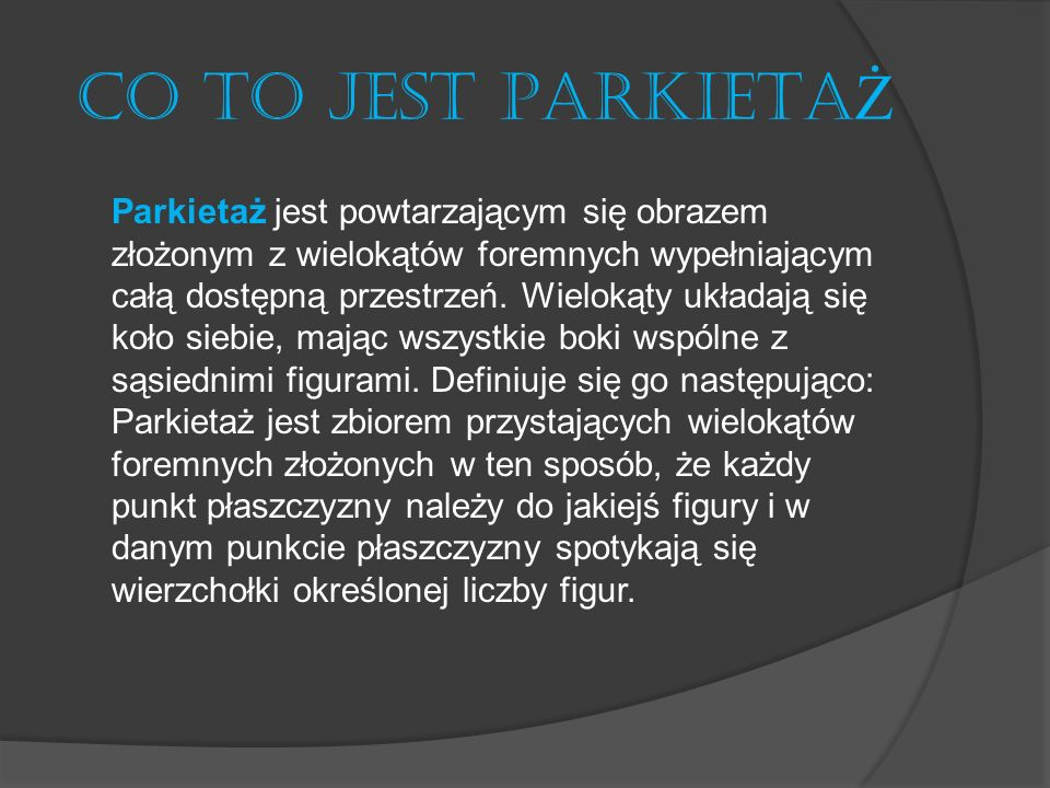 CO TO JEST PARKIETAŻ