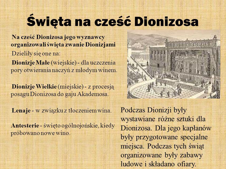 Święta na cześć Dionizosa