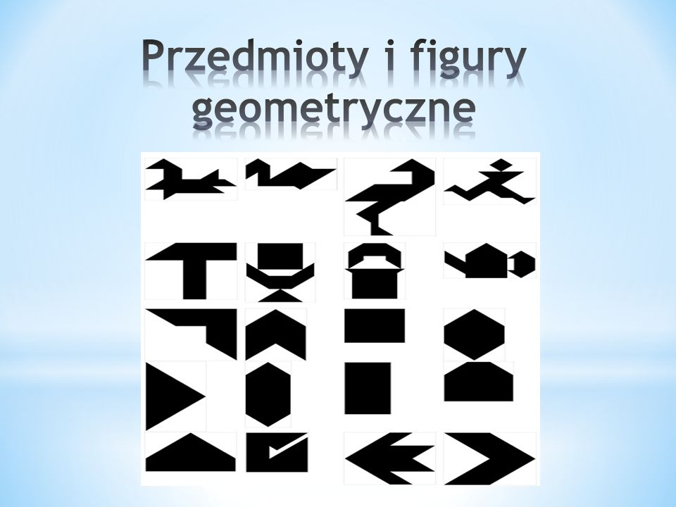 Przedmioty i figury geometryczne