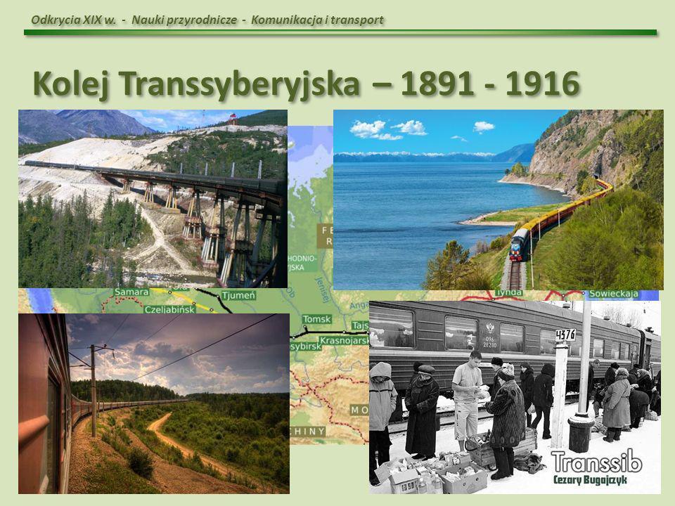 Kolej Transsyberyjska – 1891 - 1916