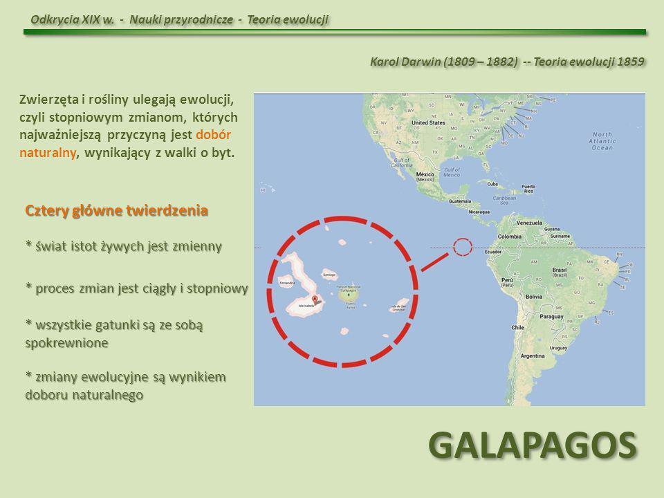 GALAPAGOS Cztery główne twierdzenia