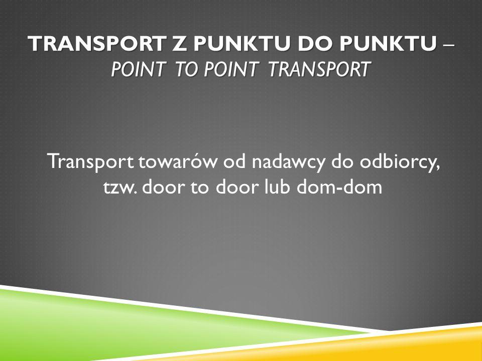 Transport z punktu do punktu – point to point transport