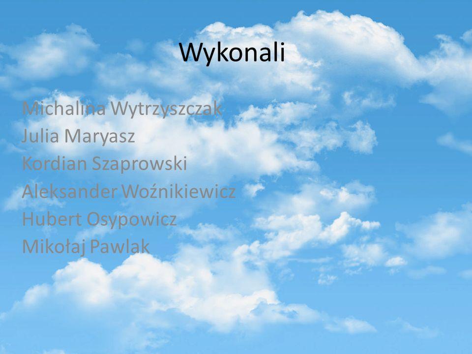 Wykonali Michalina Wytrzyszczak Julia Maryasz Kordian Szaprowski