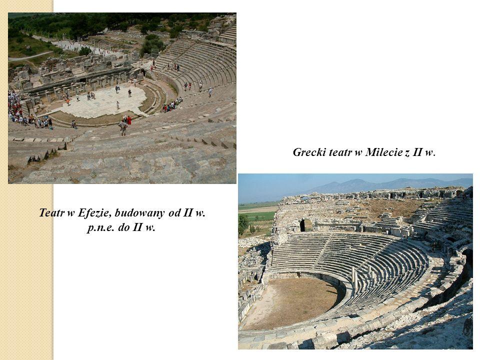 Teatr w Efezie, budowany od II w. p.n.e. do II w.