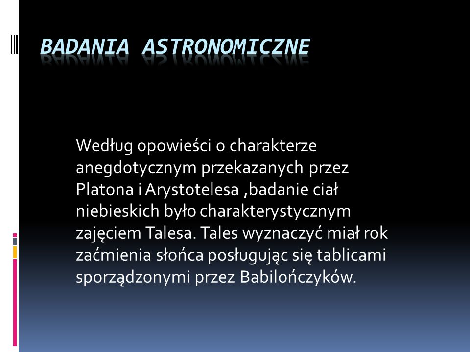Badania astronomiczne