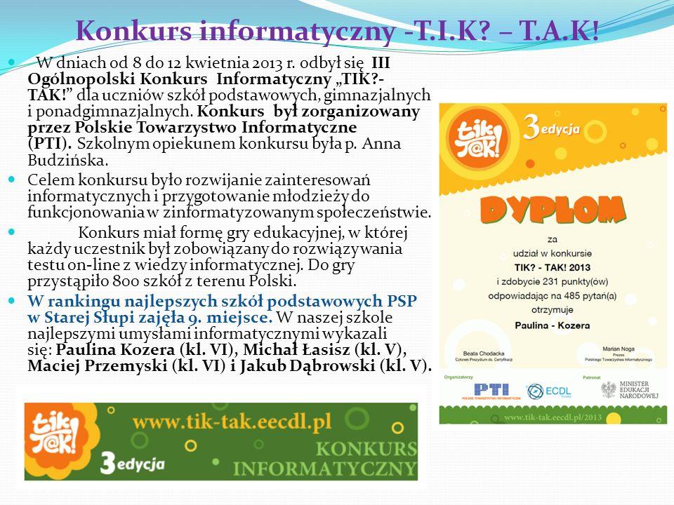 Konkurs informatyczny -T.I.K – T.A.K!