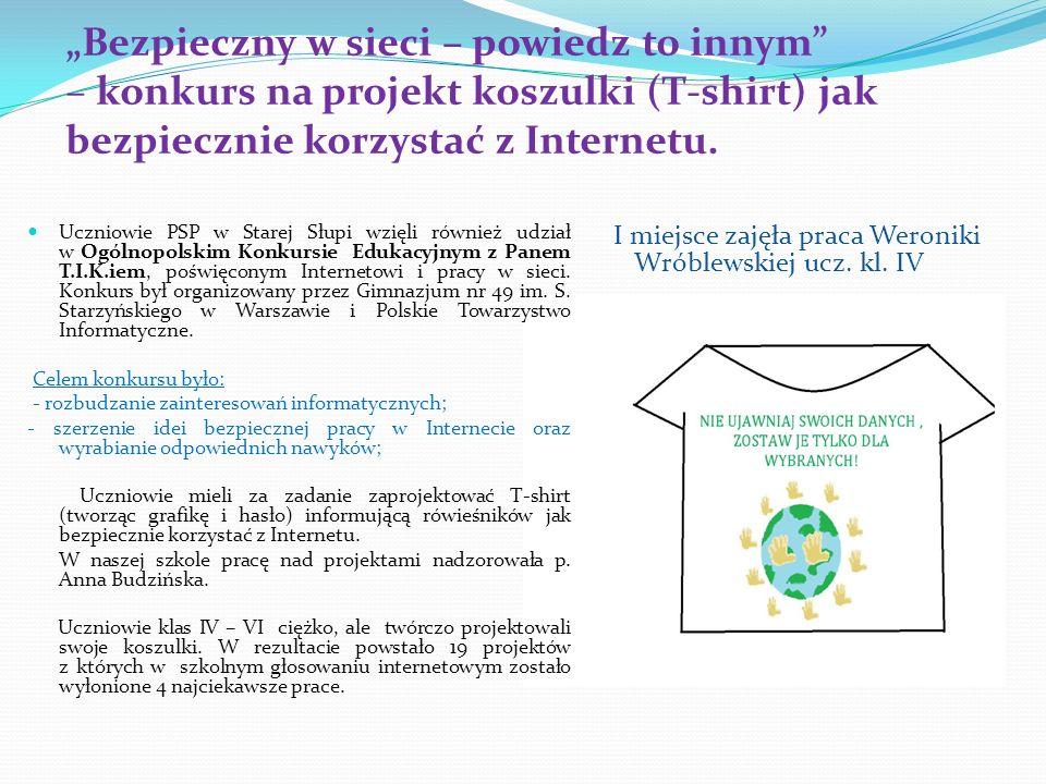 I miejsce zajęła praca Weroniki Wróblewskiej ucz. kl. IV