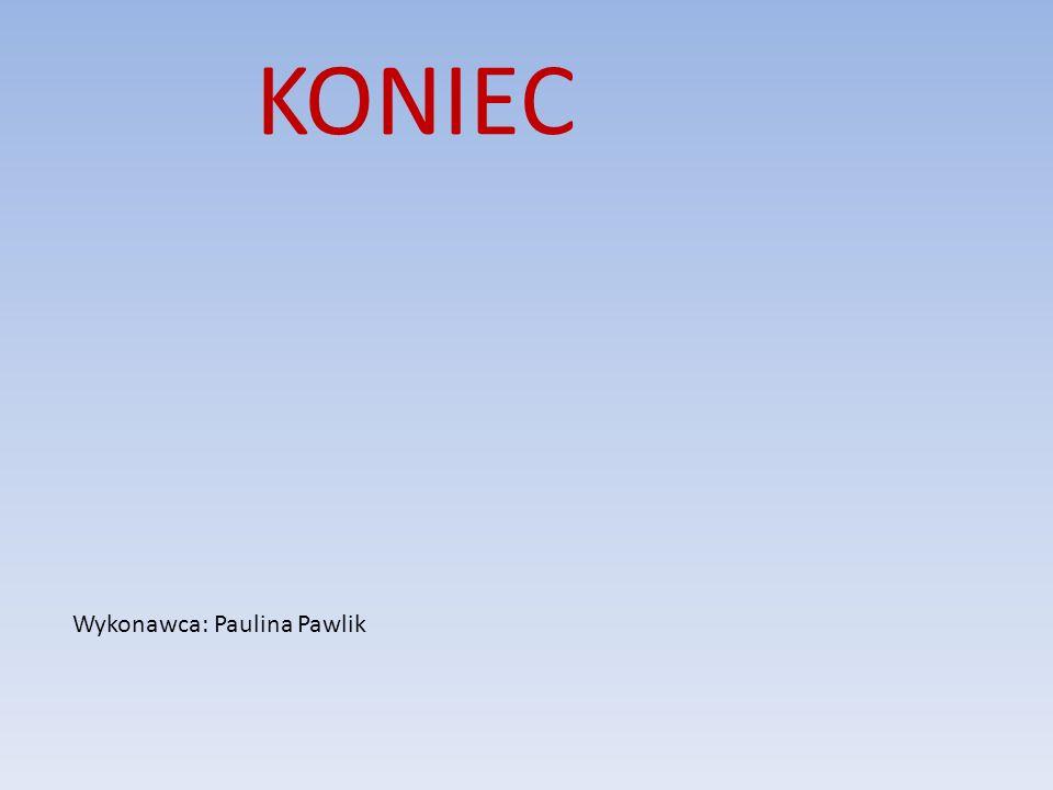KONIEC Wykonawca: Paulina Pawlik
