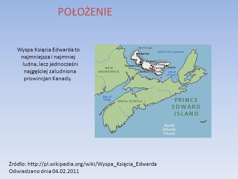 POŁOŻENIE Wyspa Księcia Edwarda to najmniejsza i najmniej