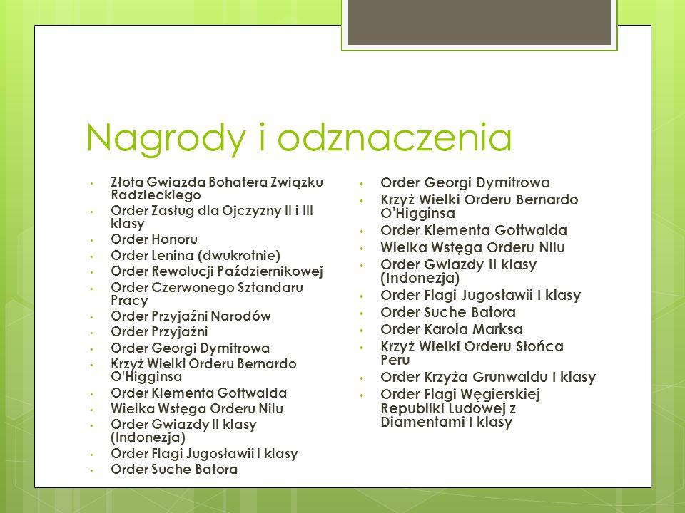 Nagrody i odznaczenia Order Georgi Dymitrowa
