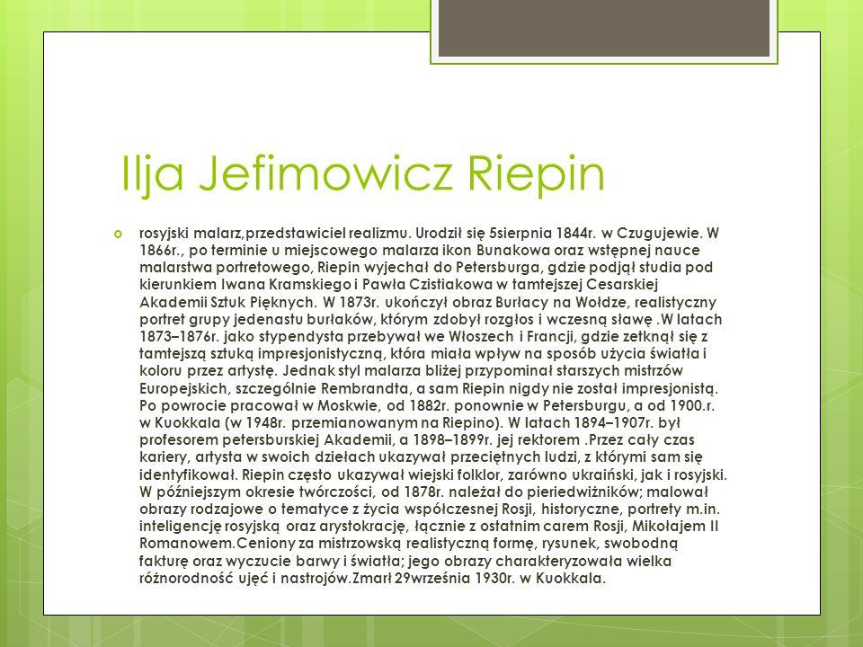 Ilja Jefimowicz Riepin