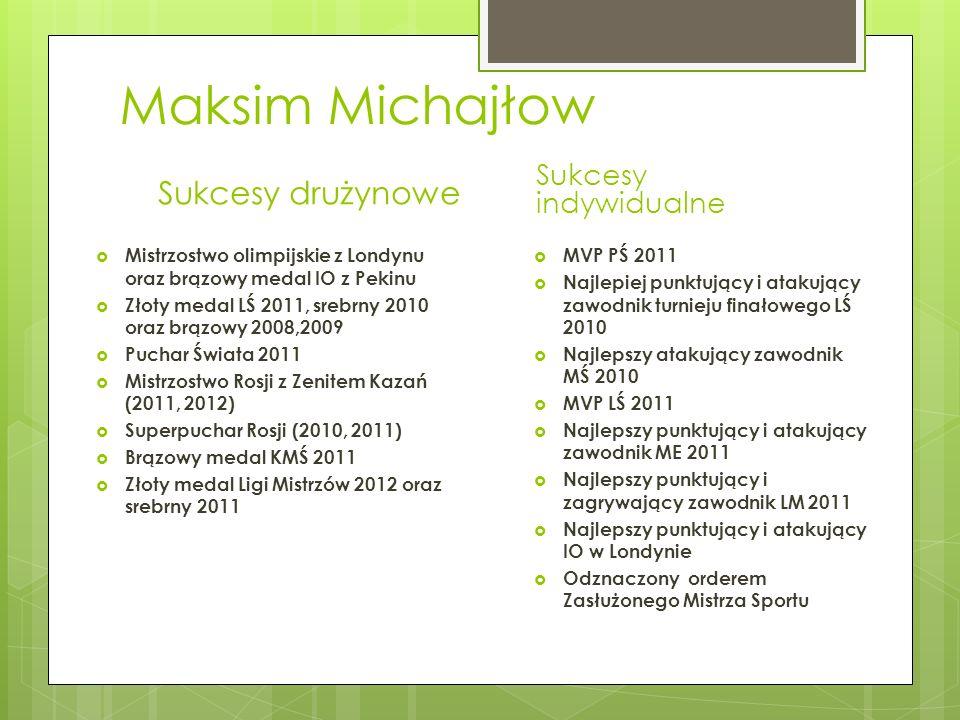 Maksim Michajłow Sukcesy drużynowe Sukcesy indywidualne