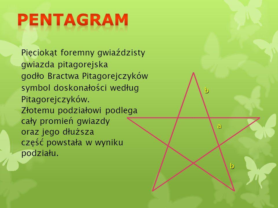 Pentagram Pięciokąt foremny gwiaździsty gwiazda pitagorejska