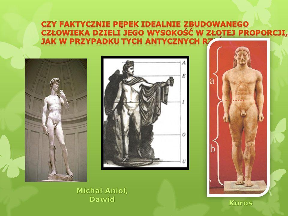 Czy faktycznie pępek idealnie zbudowanego człowieka dzieli jego wysokość w złotej proporcji, jak w przypadku tych antycznych rzeźb