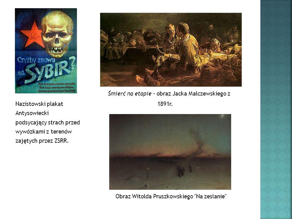 Śmierć na etapie - obraz Jacka Malczewskiego z