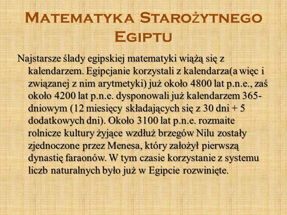 Matematyka Starożytnego Egiptu