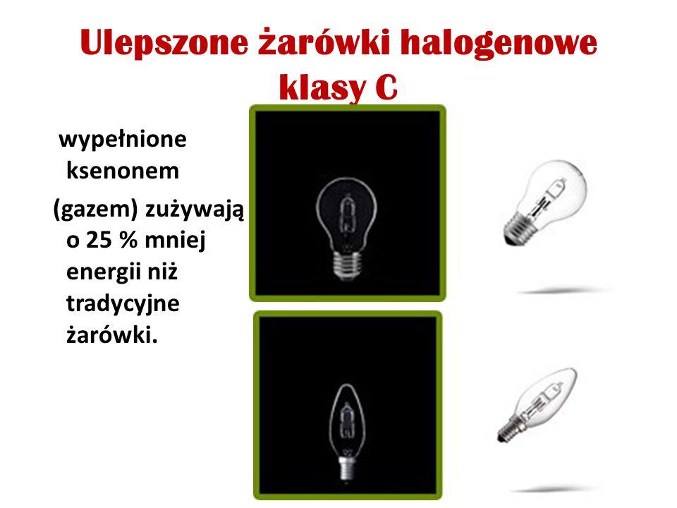 Ulepszone żarówki halogenowe klasy C