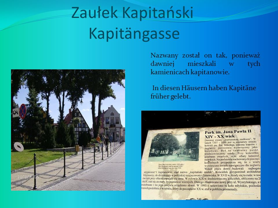 Zaułek Kapitański Kapitängasse