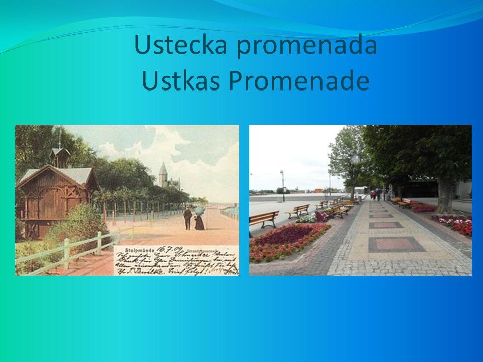 Ustecka promenada Ustkas Promenade