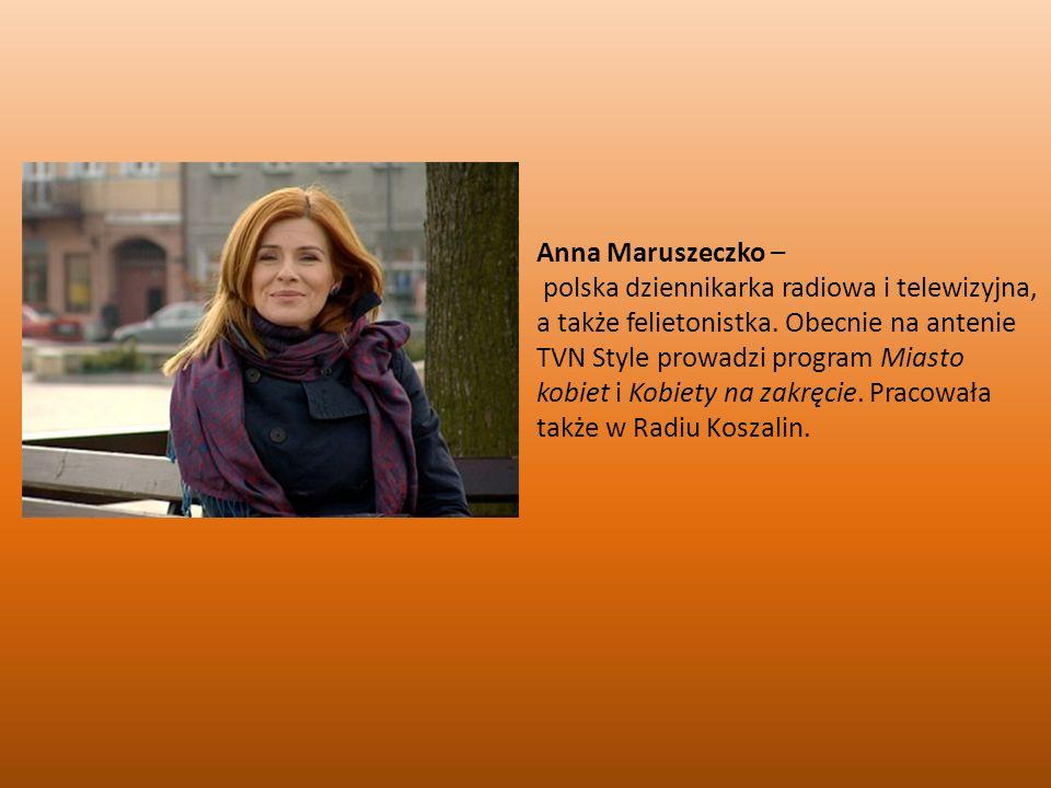 Anna Maruszeczko –
