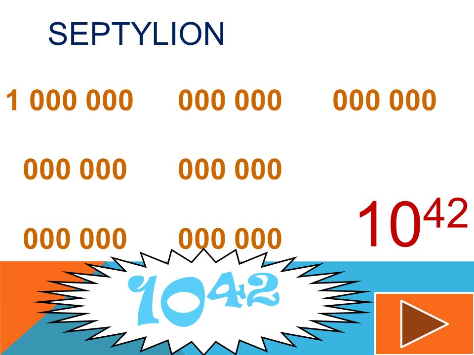 Septylion 1 000 000 000 000 000 000 000 000 000 000 000 000 000 000 1042 1042