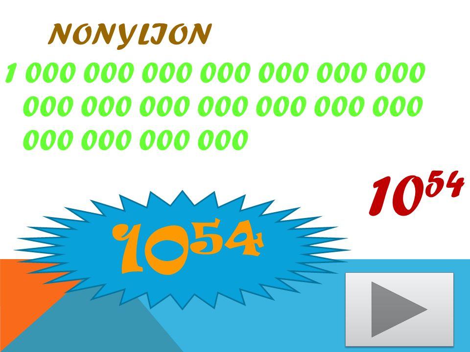 nonylion 1 000 000 000 000 000 000 000 000 000 000 000 000 000 000 000 000 000 000 1054 1054