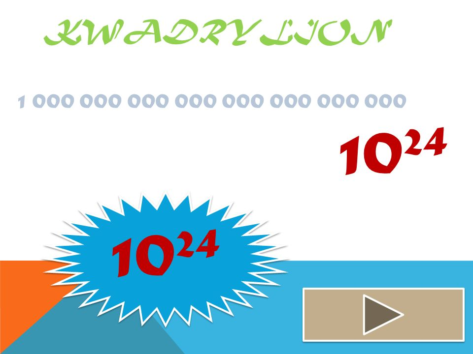 Kwadrylion 1 000 000 000 000 000 000 000 000 1024 1024