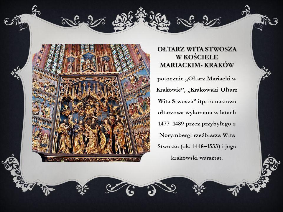ołtarz Wita Stwosza w kościele Mariackim- kraków