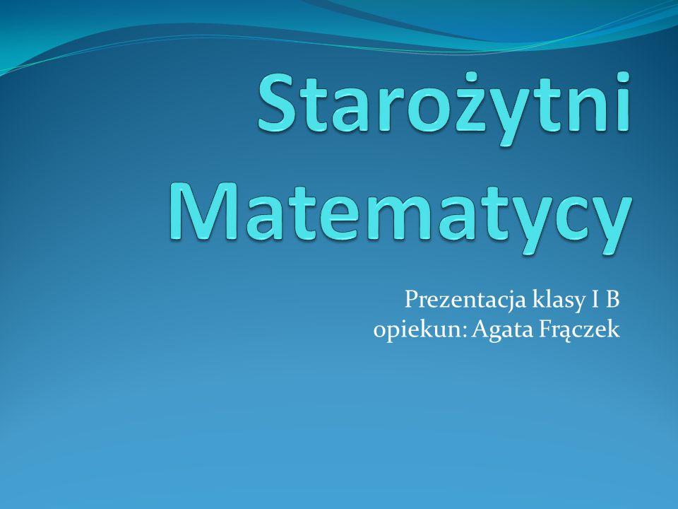 Starożytni Matematycy