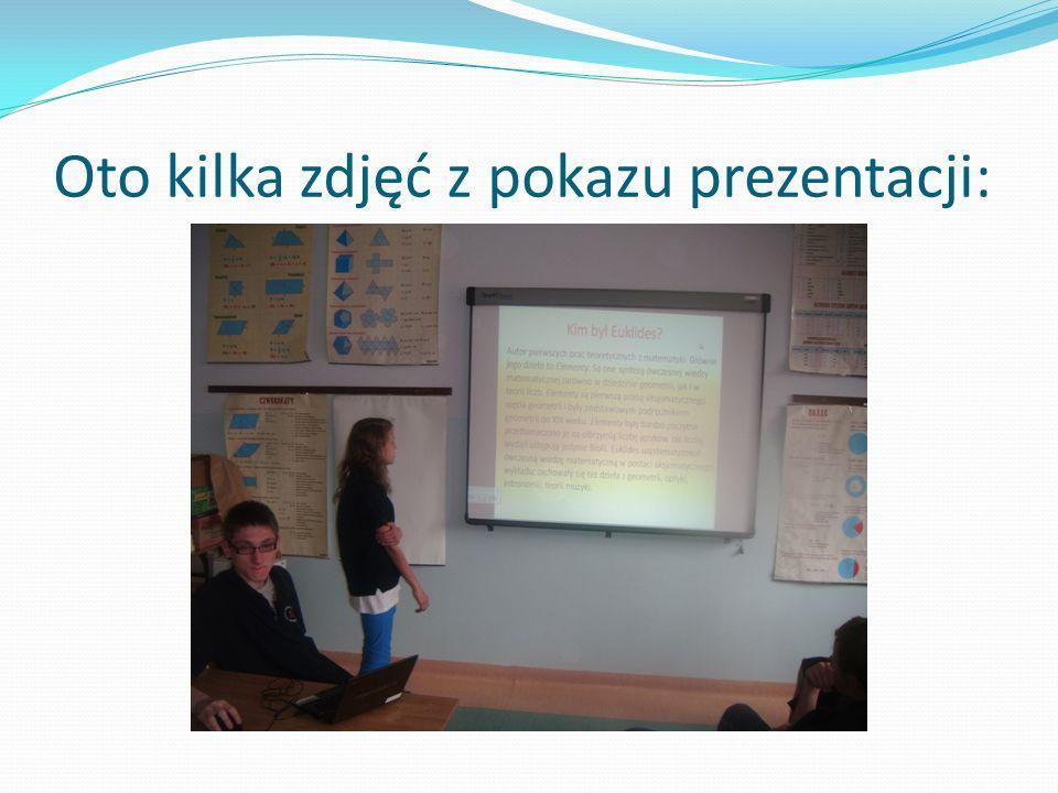 Oto kilka zdjęć z pokazu prezentacji: