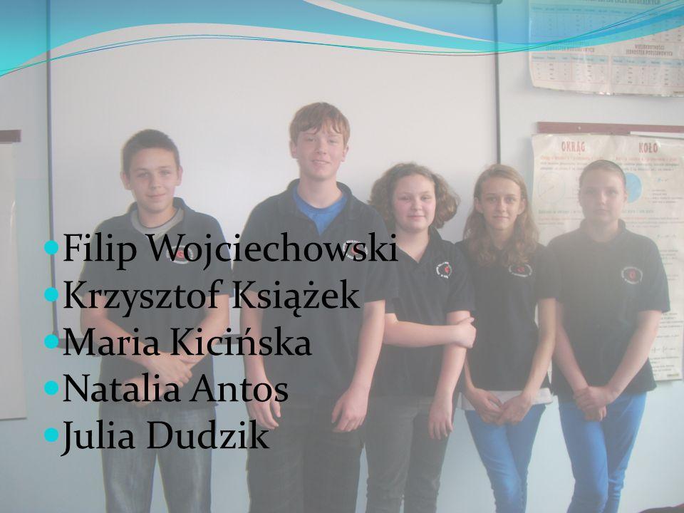 Filip Wojciechowski Krzysztof Książek Maria Kicińska Natalia Antos Julia Dudzik