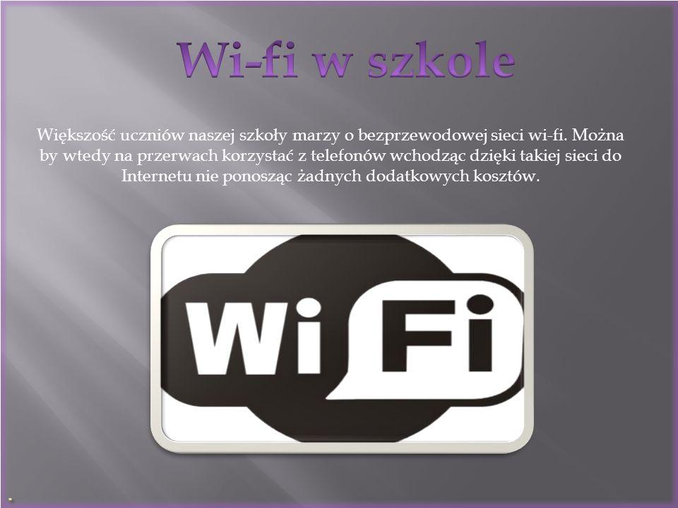 . Wi-fi w szkole.