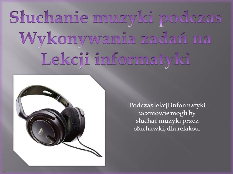 Słuchanie muzyki podczas