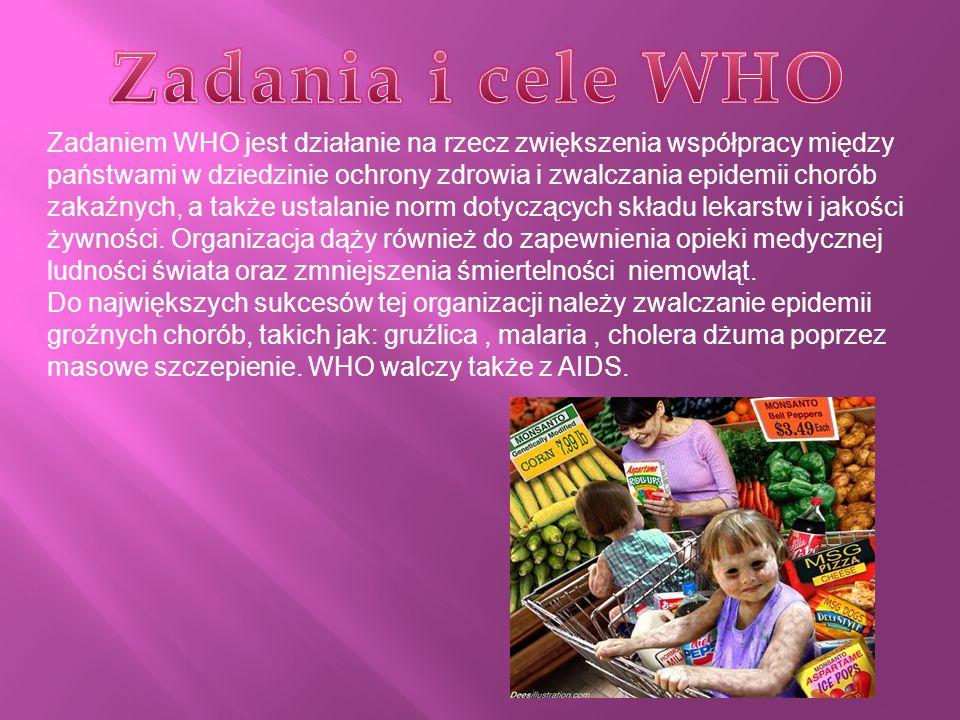 Zadania i cele WHO