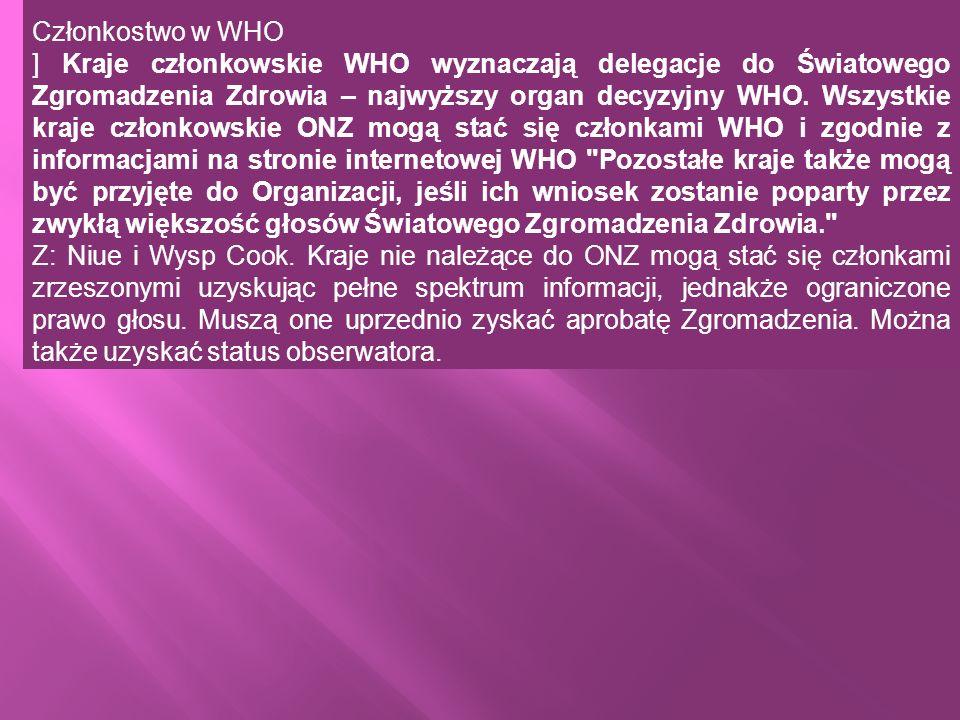 Członkostwo w WHO