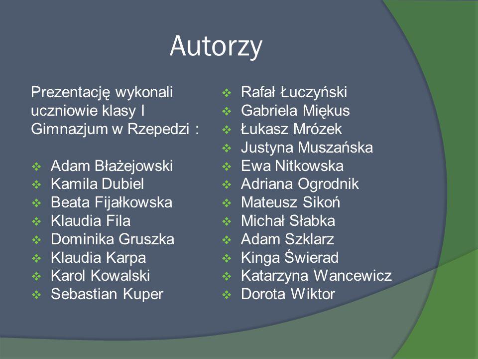 Autorzy Prezentację wykonali Rafał Łuczyński uczniowie klasy I