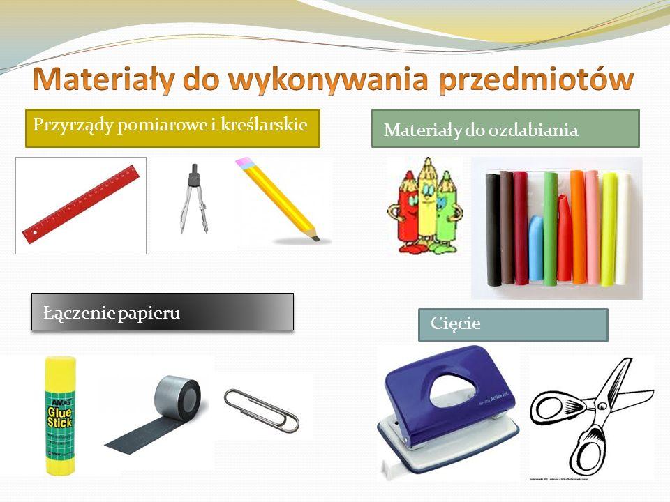 Materiały do wykonywania przedmiotów