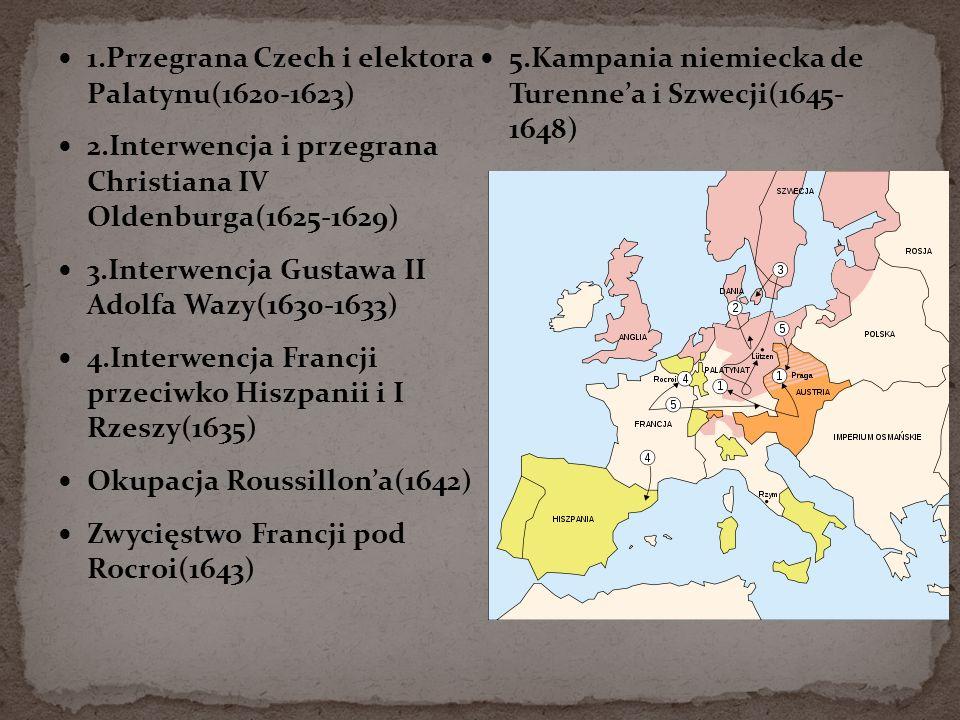 1.Przegrana Czech i elektora Palatynu(1620-1623)