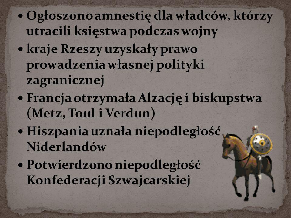 Ogłoszono amnestię dla władców, którzy utracili księstwa podczas wojny