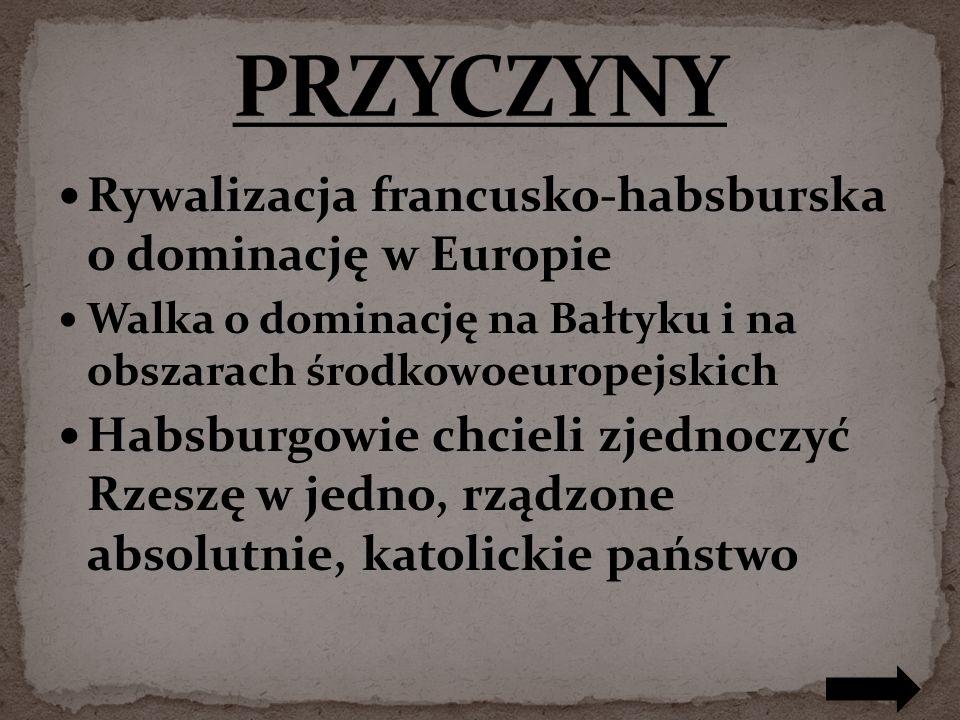 PRZYCZYNY Rywalizacja francusko-habsburska o dominację w Europie