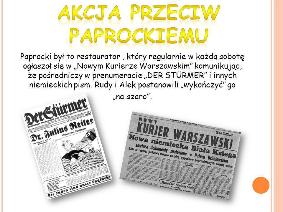 Akcja przeciw Paprockiemu