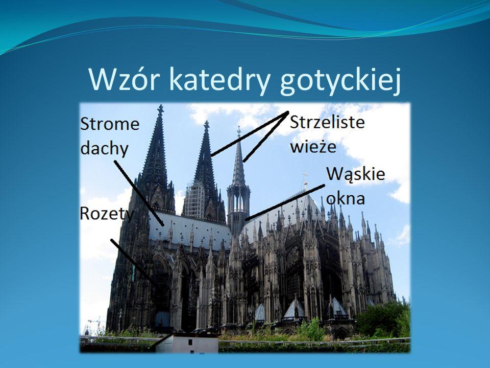 Wzór katedry gotyckiej