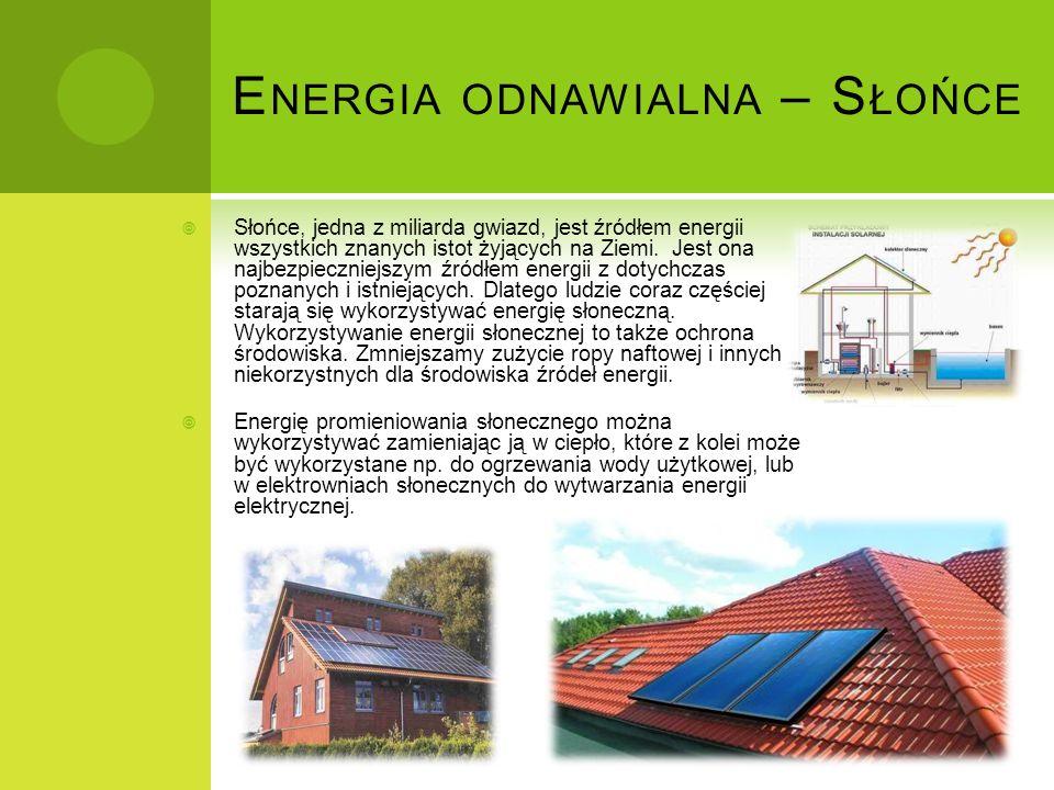 Energia odnawialna – Słońce