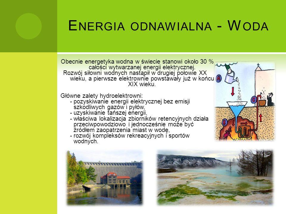 Energia odnawialna - Woda