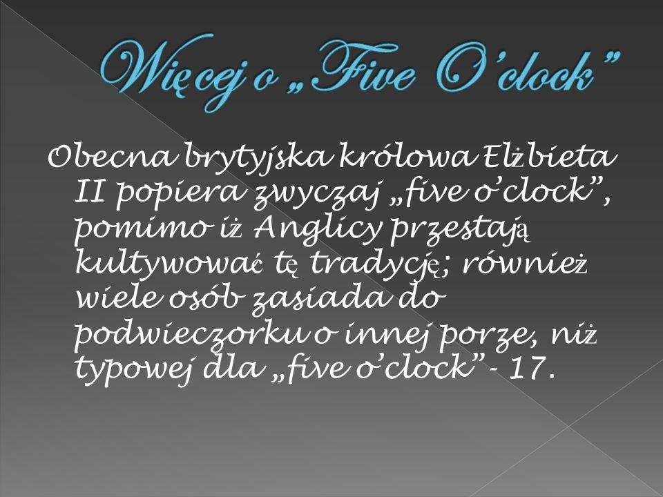 """Więcej o """"Five O'clock"""