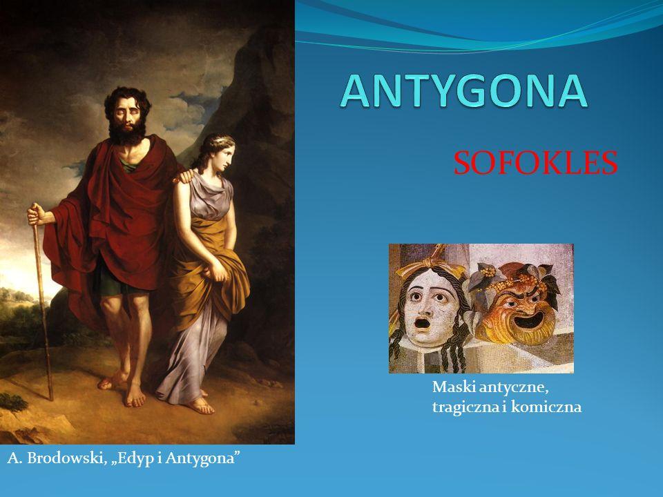 ANTYGONA SOFOKLES Maski antyczne, tragiczna i komiczna
