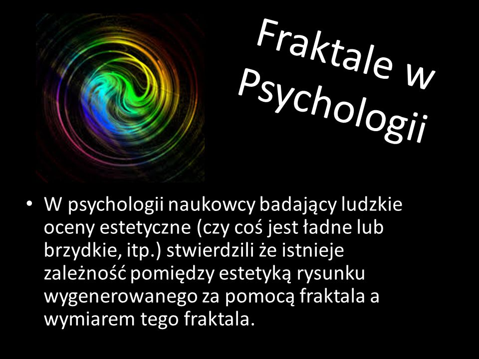 Fraktale w Psychologii