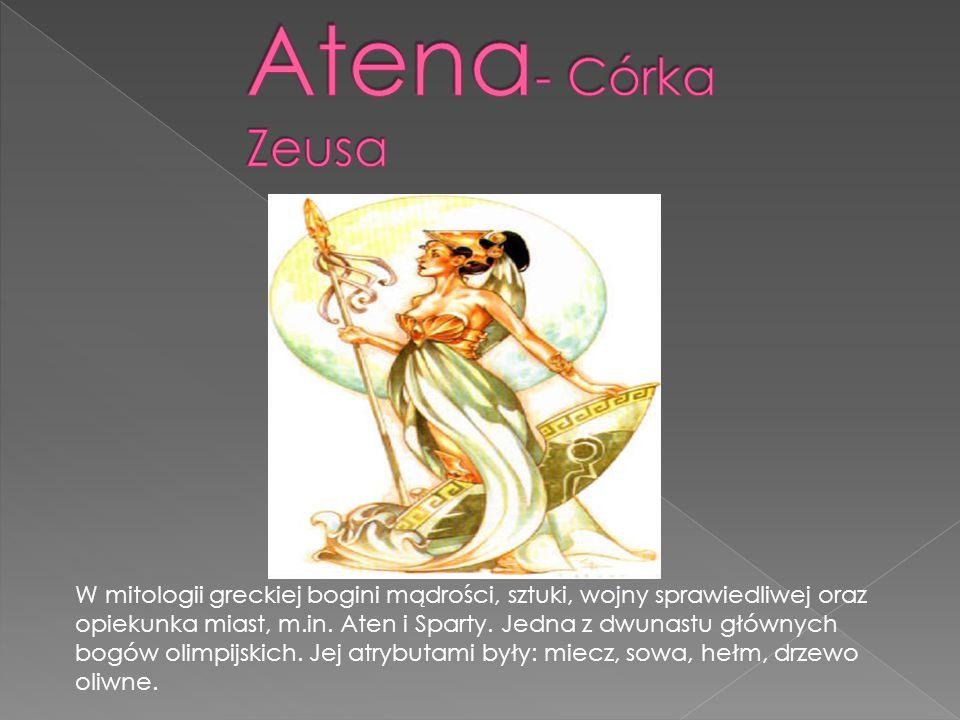 Atena- Córka Zeusa